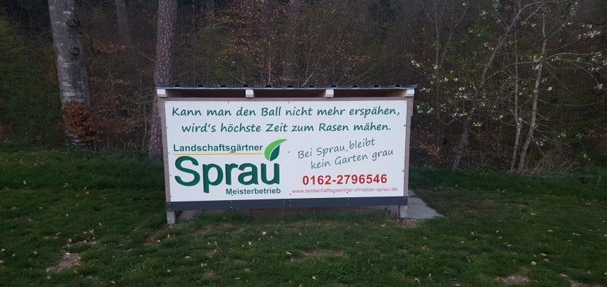 Landschaftsgärtner Christian Sprau ist neuer VIP Partner beim FC Schwandorf/Worndorf/Neuhausen!